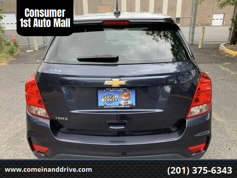 2018 Chevrolet Trax for sale at Consumer 1st Auto Mall in Hasbrouck Heights NJ