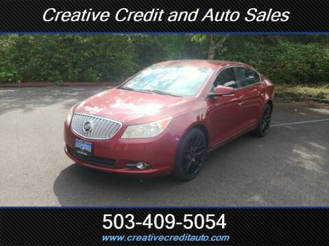 2011 Buick LaCrosse for sale at Creative Credit & Auto Sales in Salem OR