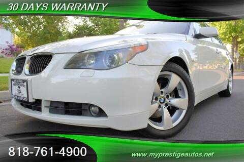 2007 BMW 5 Series for sale at Prestige Auto Sports Inc in North Hollywood CA