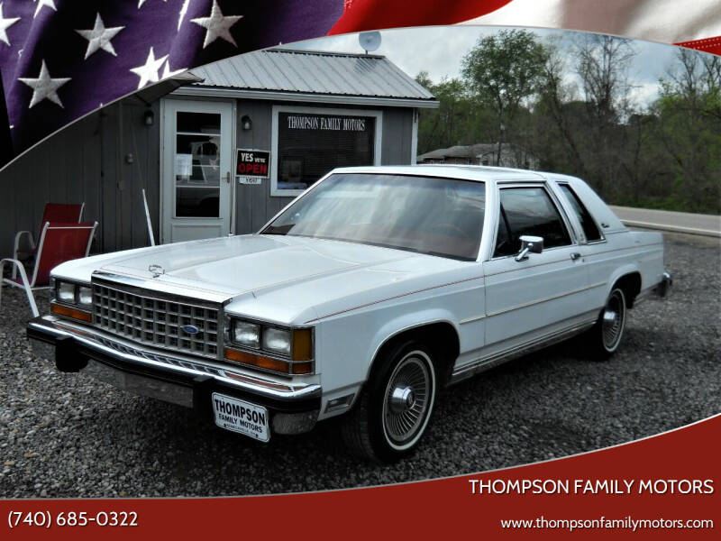 1985 Ford LTD Crown Victoria for sale at THOMPSON FAMILY MOTORS in Senecaville OH