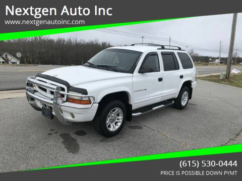 2001 Dodge Durango for sale at Nextgen Auto Inc in Smithville TN