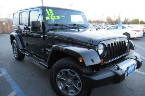 2013 Jeep Wrangler Unlimited for sale at Choice Auto & Truck in Sacramento CA