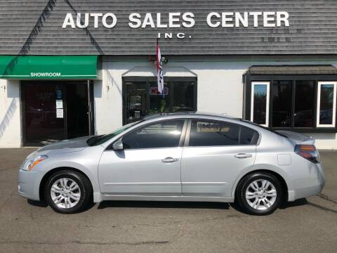2012 Nissan Altima for sale at Auto Sales Center Inc in Holyoke MA