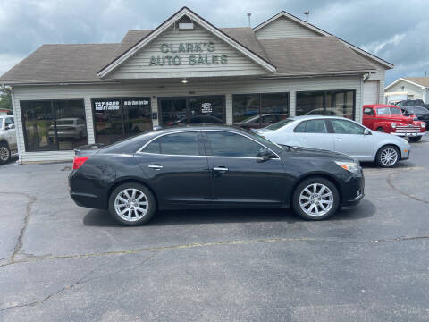 2014 Chevrolet Malibu for sale at Clarks Auto Sales in Middletown OH