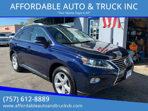2015 Lexus RX 350 for sale at AFFORDABLE AUTO & TRUCK INC in Virginia Beach VA
