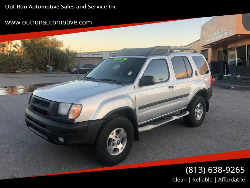 2001 Nissan Xterra for sale at Out Run Automotive Sales and Service Inc in Tampa FL