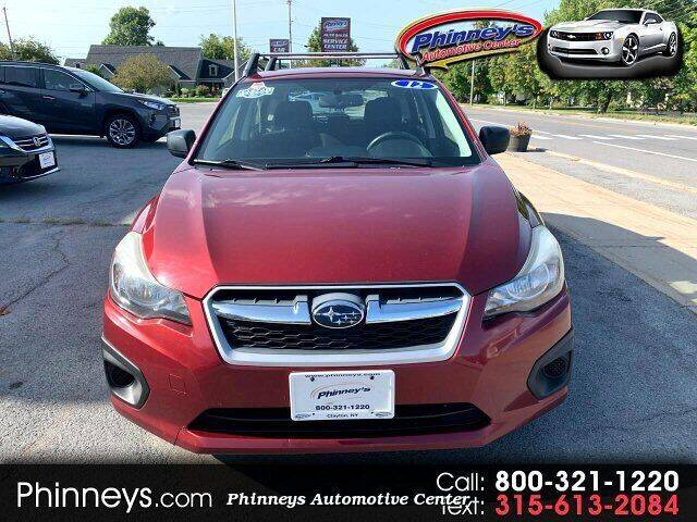 2012 Subaru Impreza for sale at Phinney's Automotive Center in Clayton NY