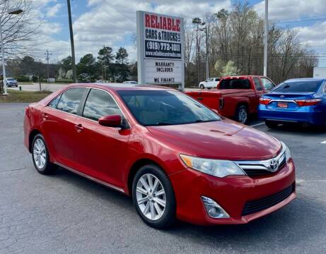 2013 Toyota Camry for sale at Reliable Cars & Trucks LLC in Raleigh NC