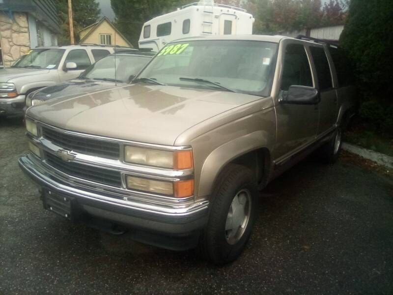 1999 Chevrolet Suburban for sale at Payless Car & Truck Sales in Mount Vernon WA
