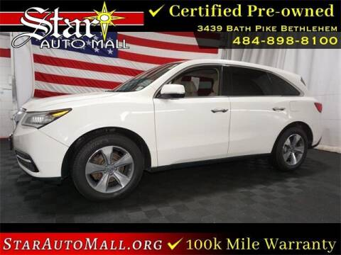2016 Acura MDX for sale at STAR AUTO MALL 512 in Bethlehem PA