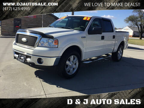 2007 Ford F-150 for sale at D & J AUTO SALES in Joplin MO