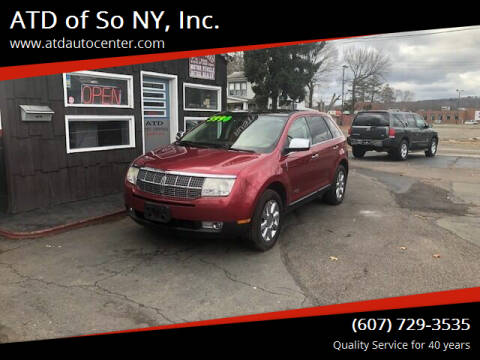 2009 Lincoln MKX for sale at ATD of So NY, Inc. in Johnson City NY