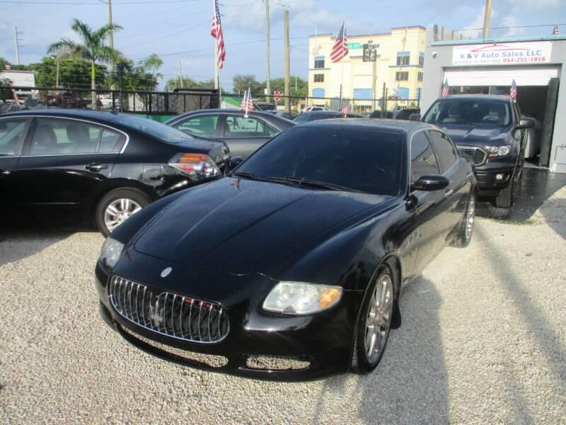 2008 Maserati Quattroporte for sale at K & V AUTO SALES LLC in Hollywood FL