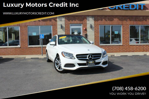 2015 Mercedes-Benz C-Class for sale at Luxury Motors Credit Inc in Bridgeview IL