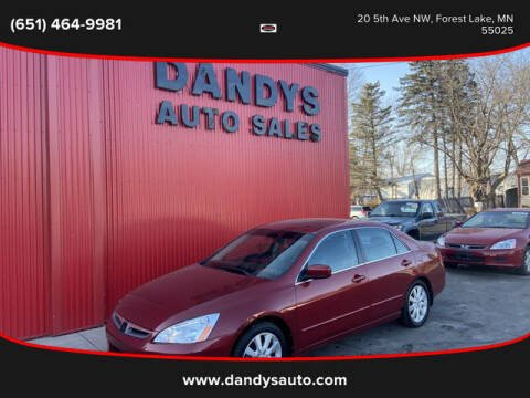 2007 Honda Accord for sale at Dandy's Auto Sales in Forest Lake MN