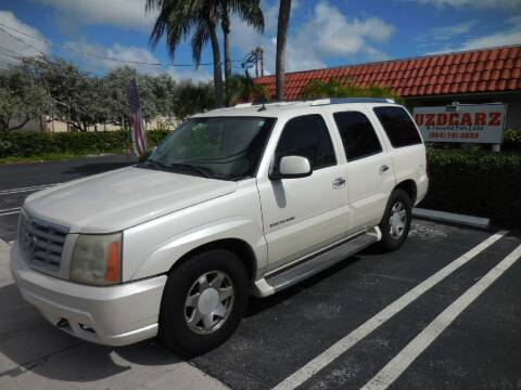 2004 Cadillac Escalade for sale at Uzdcarz Inc. in Pompano Beach FL