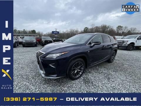 2017 Lexus RX 350 for sale at Impex Auto Sales in Greensboro NC