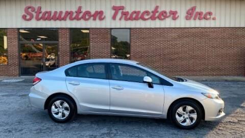 2013 Honda Civic for sale at STAUNTON TRACTOR INC in Staunton VA