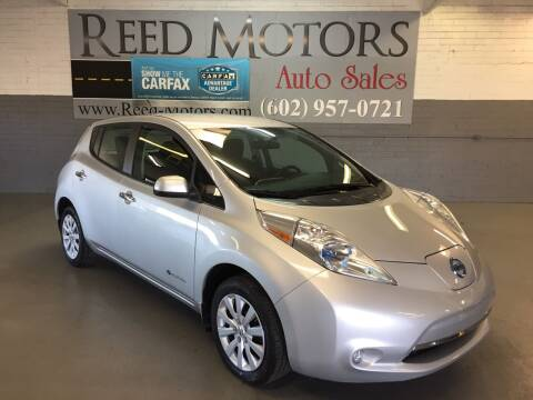 2013 Nissan LEAF for sale at REED MOTORS LLC in Phoenix AZ