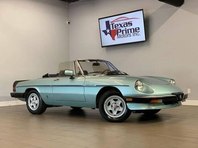 1984 Alfa Romeo Spider for sale at Texas Prime Motors in Houston TX