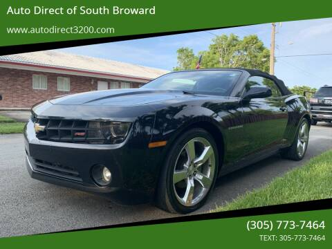 2013 Chevrolet Camaro for sale at Auto Direct of South Broward in Miramar FL