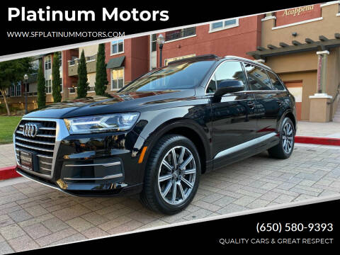 2017 Audi Q7 for sale at Platinum Motors in San Bruno CA