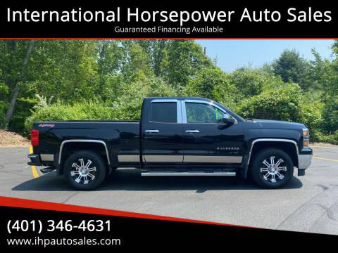 2014 Chevrolet Silverado 1500 for sale at International Horsepower Auto Sales in Warwick RI