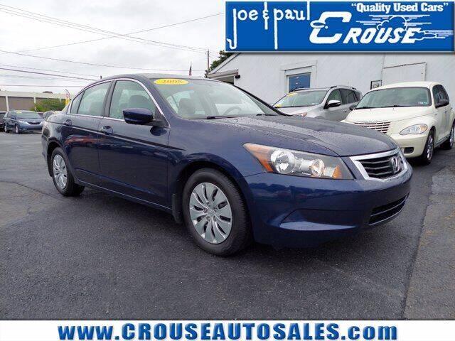 2008 Honda Accord for sale at Joe and Paul Crouse Inc. in Columbia PA
