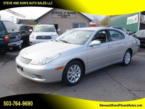 2003 Lexus ES 300 for sale at Steve & Sons Auto Sales in Happy Valley OR