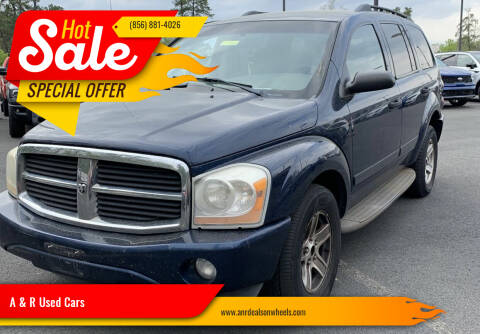 2004 Dodge Durango for sale at A & R Used Cars in Clayton NJ