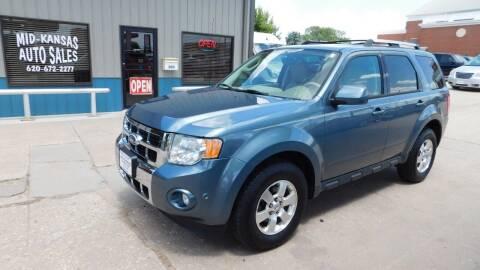 2012 Ford Escape for sale at Mid Kansas Auto Sales in Pratt KS
