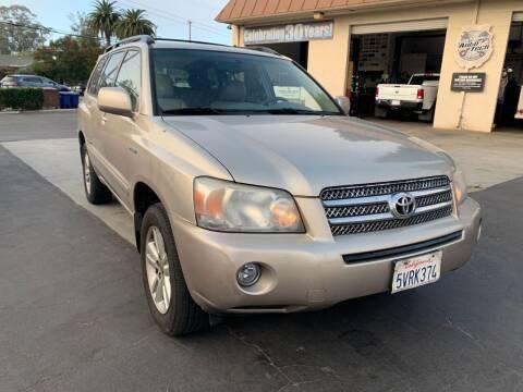 2006 Toyota Highlander Hybrid for sale at AUCTION SERVICES OF CALIFORNIA in El Dorado CA