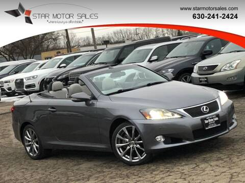 2015 Lexus IS 250C for sale at Star Motor Sales in Downers Grove IL