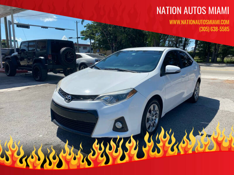 2014 Toyota Corolla for sale at Nation Autos Miami in Hialeah FL
