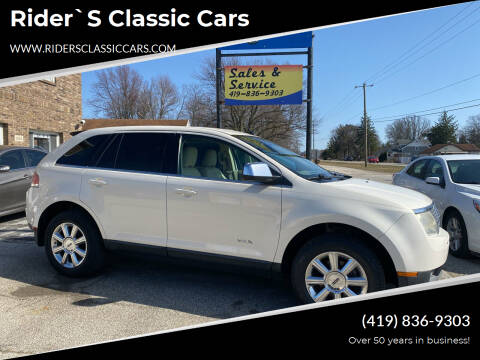 2007 Lincoln MKX for sale at Rider`s Classic Cars in Millbury OH
