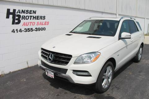 2012 Mercedes-Benz M-Class for sale at HANSEN BROTHERS AUTO SALES in Milwaukee WI
