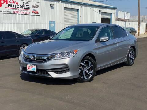 2016 Honda Accord for sale at SUPER AUTO SALES STOCKTON in Stockton CA