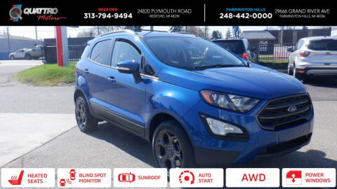 2018 Ford EcoSport for sale at Quattro Motors 2 in Farmington Hills MI