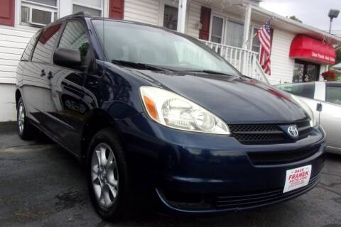 2005 Toyota Sienna for sale at Dave Franek Automotive in Wantage NJ