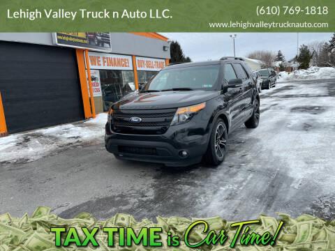 2015 Ford Explorer for sale at Lehigh Valley Truck n Auto LLC. in Schnecksville PA