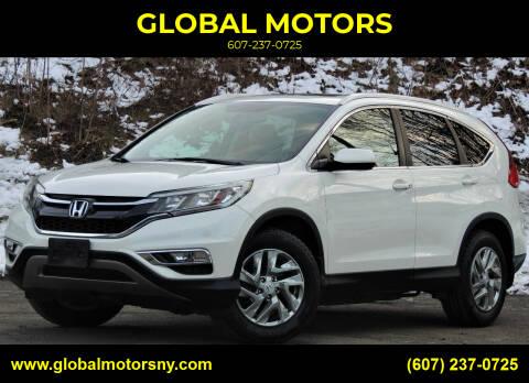 2015 Honda CR-V for sale at GLOBAL MOTORS in Binghamton NY