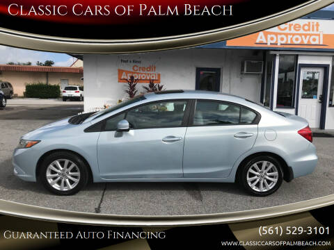 2012 Honda Civic for sale at Classic Cars of Palm Beach in Jupiter FL