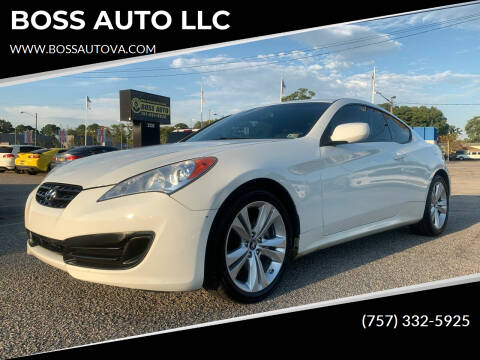 2011 Hyundai Genesis Coupe for sale at BOSS AUTO LLC in Norfolk VA