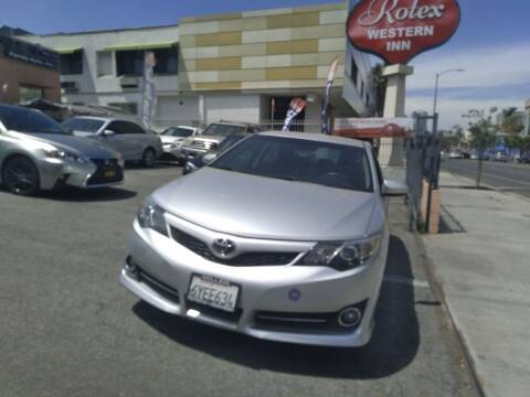 2012 Toyota Camry for sale at Western Motors Inc in Los Angeles CA