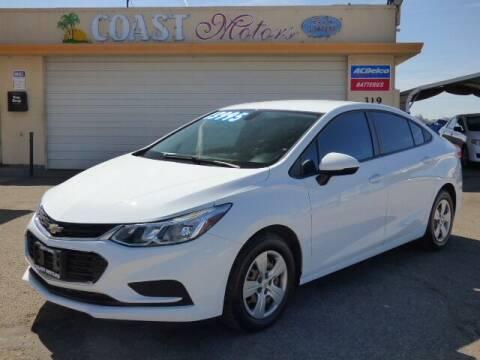 2018 Chevrolet Cruze for sale at Coast Motors in Arroyo Grande CA