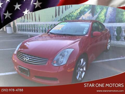 2004 Infiniti G35 for sale at Star One Motors in Hayward CA
