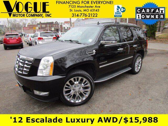 2012 Cadillac Escalade for sale at Vogue Motor Company Inc in Saint Louis MO