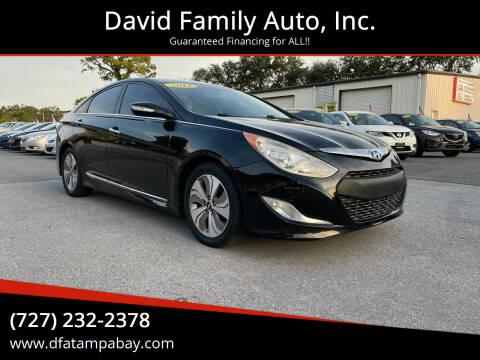 2013 Hyundai Sonata Hybrid for sale at David Family Auto, Inc. in New Port Richey FL