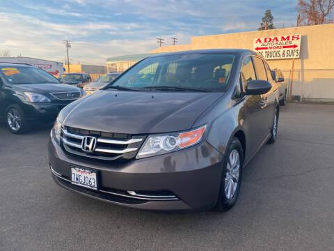 2016 Honda Odyssey for sale at Adams Auto Sales in Sacramento CA