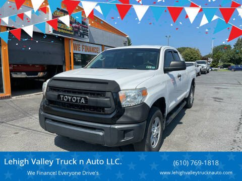 2014 Toyota Tundra for sale at Lehigh Valley Truck n Auto LLC. in Schnecksville PA